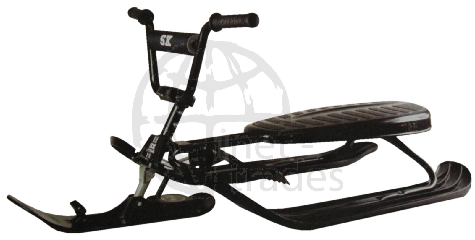 stiga lenkbob mit fahrrad lenkrad lenkschlitten bmx rodel schlitten skibob bob ebay. Black Bedroom Furniture Sets. Home Design Ideas